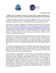 Comunicado sobre Convenio PODER - ICAR