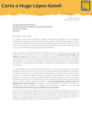 Carta López-Gatell
