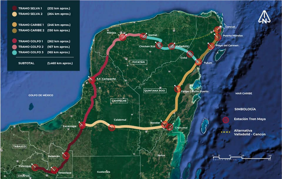 La amenaza Maya: el tren y la inmobiliaria
