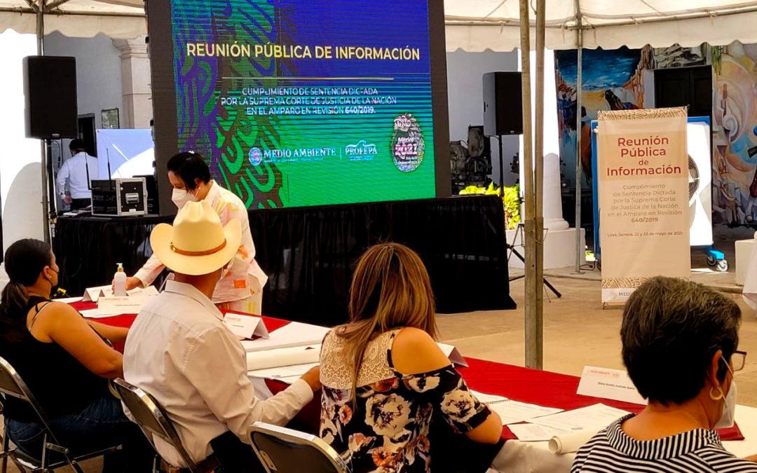 Primer día de la Reunión Pública de Información sobre el Fideicomiso Río Sonora